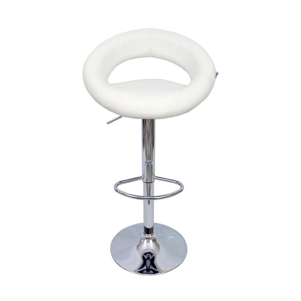 """Барний стілець HOKER BONRO В650 з Підставкою для ніг(120 кг навантаження)""""""""Білий"""