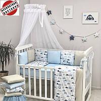 Детский постельный комплект Маленькая Соня Baby Design City 6 элементов