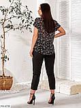 Женский брючный костюм из легкой ткани с блузой и брюками  размер:   48-50, 52-54, 56-58, 60-62, фото 2