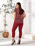 Женский брючный костюм из легкой ткани с блузой и брюками  размер:   48-50, 52-54, 56-58, 60-62, фото 5