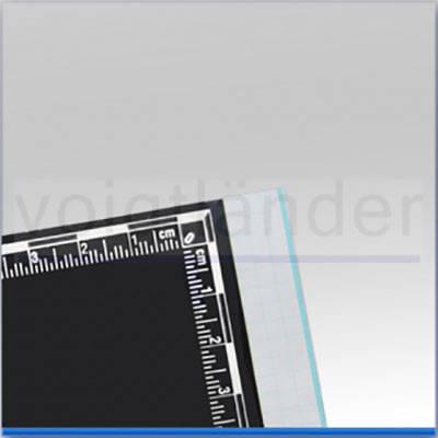 Дактилоскопічна Плівка з метричною шкалою 100х115мм чорна, фото 2
