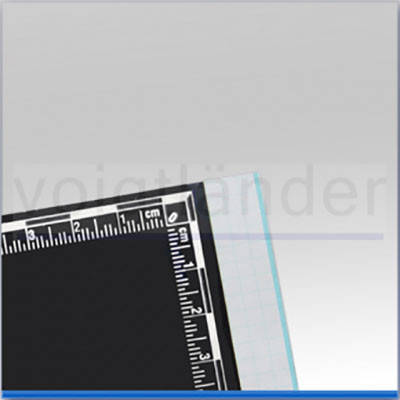 Плівка дактилоскопічна з метричною шкалою 100х115мм чорна, фото 2