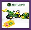 Трактор дитячий на педалях з причепом Rolly Toys Junior John 811496