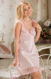 """Комбинация """"Ангелина"""" 9531 XS розовый (9531 - Женские ночные рубашки)"""