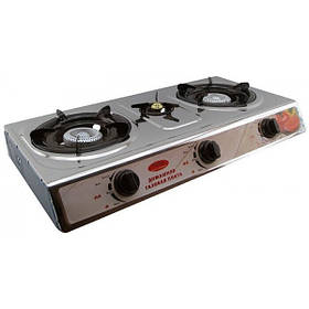 Настольная газовая плита таганок на 3 конфорки Wimpex WX-1103