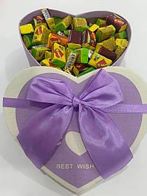 Жвачки Love is... в подарочной упаковке 100 шт фиолетовая коробочка