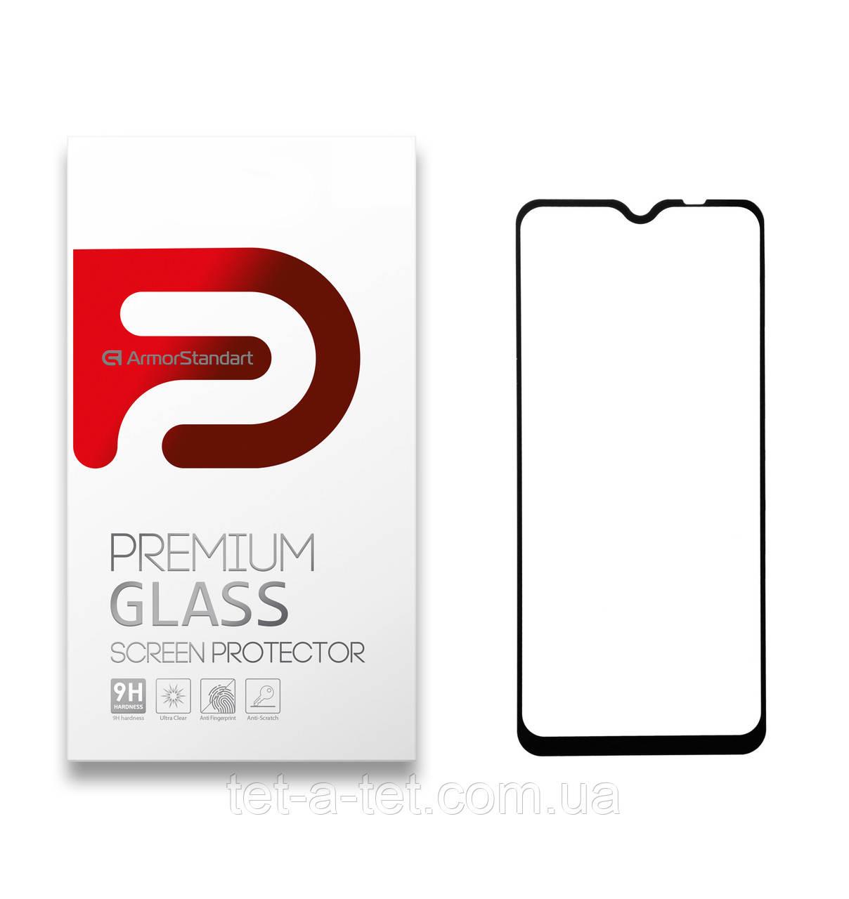 Защитное стекло Armorstandart Full Glue HD для Xiaomi Redmi 9 Black (quality glass)
