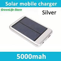ЗАРЯДНОЕ УСТРОЙСТВО солнечная батарея + встр. аккум. емкостью 5000mAh Power Bank for телефонов и плееров, фото 1