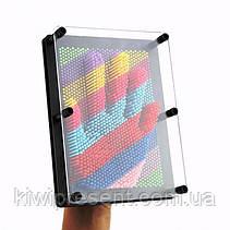 Пин арт Радуга 18 см цветной экспресс-скульптор Pinart 3D Радужный скульптор Гвоздики 3D разноцветный, фото 2