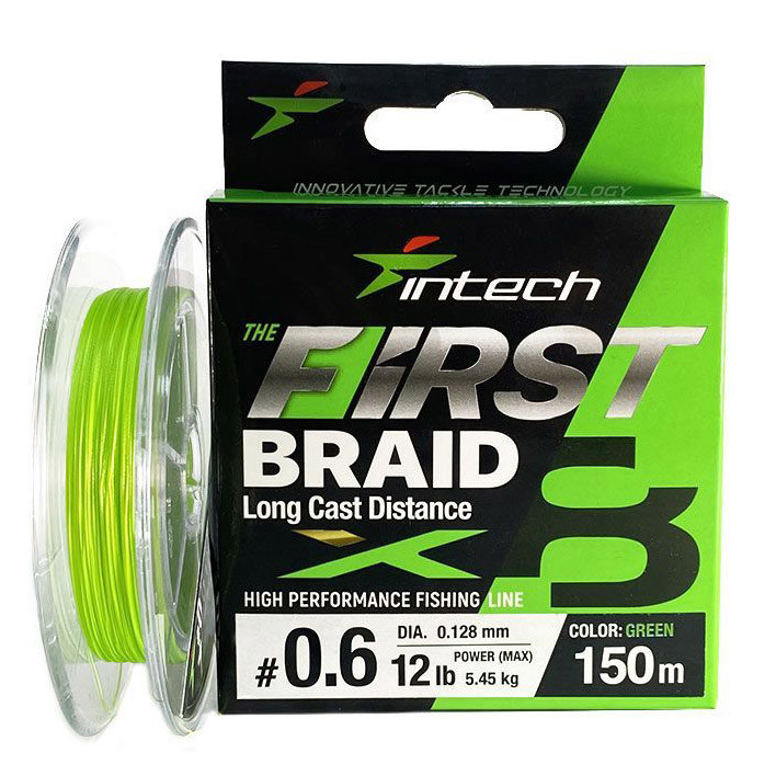 Шнур плетений Intech First Braid X8 #0.4/0.104mm (10lb/4.54kg) 150m