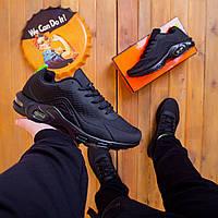 Летние мужские демисезонные кроссовки черные, легкие кроссовки для мужчин с амортизирующей подошвой