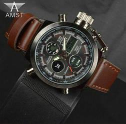 Чоловічі Наручні годинники AMST 3003 Армійські Тактичні Протиударні годинник Амст Військові електронні Метал