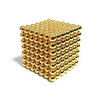 Неокуб NeoCube Золотой 7x7х7, 343 шарика