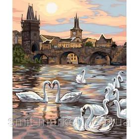 """Картина за номерами """"Лебеді"""""""