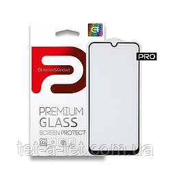 Защитное стекло ArmorStandart Pro для Samsung A31 Black (premium glass)