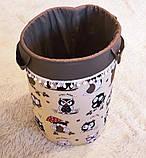 """Большая корзина для игрушек """"Умные совы"""", высота 60 см, диаметр 35 см, фото 3"""