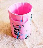 """Большая корзина для игрушек """"Розовая панда"""", высота 60 см, диаметр 35 см, фото 2"""