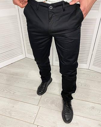 Штани класичні чоловічі Stefano Ricci Чорні, завужені штани для чоловіків, фото 2