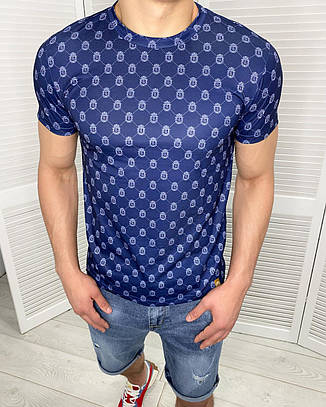 Футболка мужская стильная Billionaire Синия Люкс качество Хлопок, фото 2