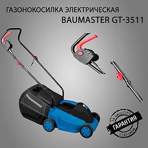 Газонокосилка электрическая BauMaster  GT-3511  на 35 литров  (1000 Вт) с травосборником