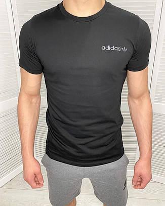 Футболка мужская Adidas Черный хлопок, фото 2