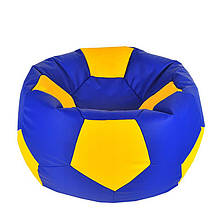 Безкаркасне крісло мішок футбольний м'яч Kospa синьо-жовтий S (60x60 см)