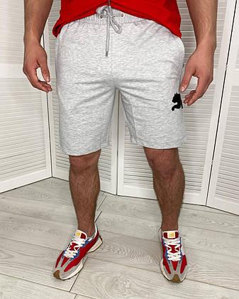 Шорты мужские трикотажные спортивные для мужчин Puma Серый, фото 2