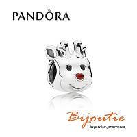 Pandora шарм РОЖДЕСТВЕНСКИЙ ОЛЕНЬ 791781EN39 серебро 925 Пандора оригинал