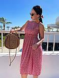 Літнє плаття із завищеною талією з штапелю в квітковий принт (р. 42, 44, 46) 4032575, фото 4