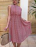 Літнє плаття із завищеною талією з штапелю в квітковий принт (р. 42, 44, 46) 4032575, фото 2