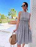 Літнє плаття із завищеною талією з штапелю в квітковий принт (р. 42, 44, 46) 4032575, фото 5