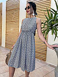 Літнє плаття із завищеною талією з штапелю в квітковий принт (р. 42, 44, 46) 4032575, фото 6
