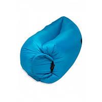 Надувной матрас-гамак UTM 2,2 м Синий | Шезлонг надувний для пляжу