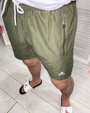Шорты мужские плавательные спортивные Adidas Хаки купальные плавки для мужчин S, фото 2