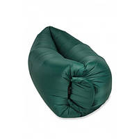 Надувной матрас-гамак UTM 2,2 м Зеленый | Мішок надувний для пляжу