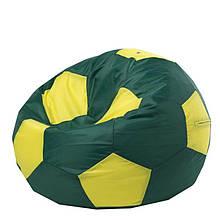 Безкаркасне крісло мішок футбольний м'яч Kospa зелено-жовтий S (60x60 см)