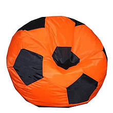 Безкаркасне крісло мішок футбольний м'яч Kospa помаранчево-чорний S (60x60 см)