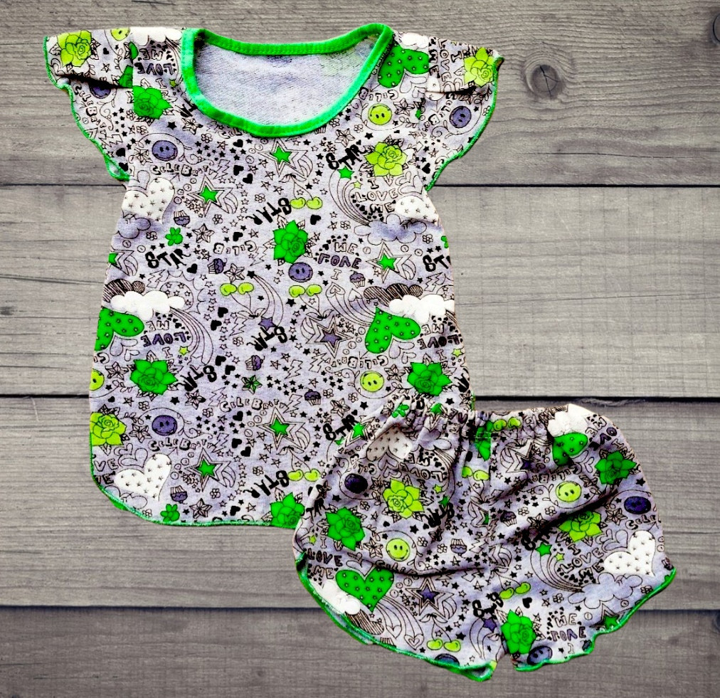 Летняя детская пижама для девочки ЛЕТНЯЯ