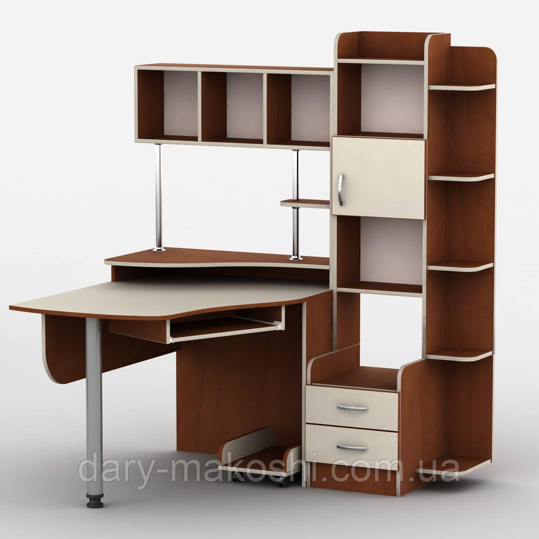 Компьютерный стол Тиса Т-3 Яблоня + ваниль