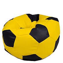 Безкаркасне крісло мішок футбольний м'яч Kospa жовто-чорний S (60x60 см)