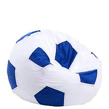 Безкаркасне крісло мішок футбольний м'яч Kospa біло-синій S (60x60 см)