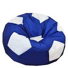 Безкаркасне крісло м'яч - оксфорд синьо-білий