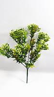 """Оливково-зеленый ягодный куст """"космический""""30см,искусственный куст с мелкими ягодами, фото 1"""