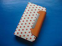 IPhone 4 чехол блокнот для телефона  Polka Dot Combo