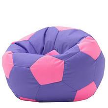Безкаркасне крісло м'яч - оксфорд фіолетово-рожевий