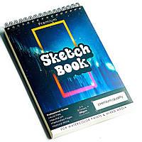 Скетчбук с акварельной бумагой А4 200 г\м2 для скетчинга для рисования, альбом 50 листов