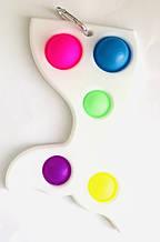 Сенсорна іграшка Simple Dimple поп іт антистрес сімпл дімпл русалка велика 16 см