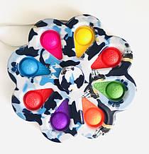 Сенсорна іграшка Simple Dimple поп іт антистрес сімпл дімпл Квітка спинер великий 13 см