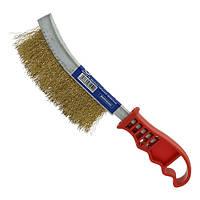 Щетка по металлу для снятия ржавчины (латунная проволока, пластиковая ручка) СТАНДАРТ BWPH0102