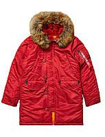 Жіноча зимова куртка аляска Alpha Industries N-3B W Parka WJN44502C1 (Commander Red), фото 1